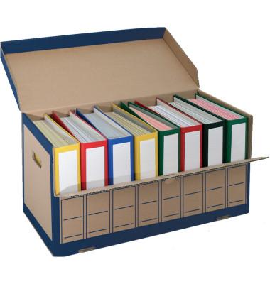 Archivbox 2708 für 8x Ordner braun 655x310x335mm mit Klappe 10 Stück