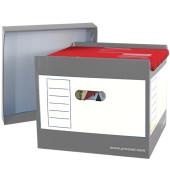 Hängebox Top-Portable, leer, A4, für: 50 Hängemappen, grau