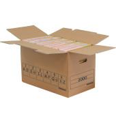 Aufbewahrungsbox Trans-Box, für 6 Ordner, 51,5 x 28,8 x 32,5 cm, braun
