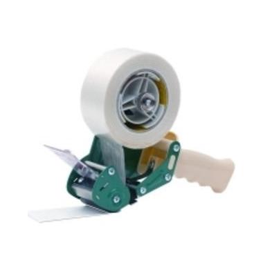 Handabroller, für Klebebänder bis 50 mm x 200 m, weiß/grün