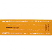 Schriftschablone, Schrifthöhe 3,5mm und 5mm, für Fineliner und