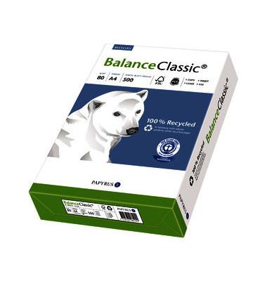Balance Classic A4 80g Recyclingpapier weiß 5x 500 Blatt / 1 Karton