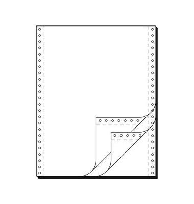 Endlospapier 91300, A4 hoch blanko, 3-fach, 12 Zoll x 240 mm, 600 Sätze