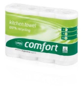 Küchenrollen 167040 Comfort 2-lagig weiß 8x 4 Rollen à 50 Blatt