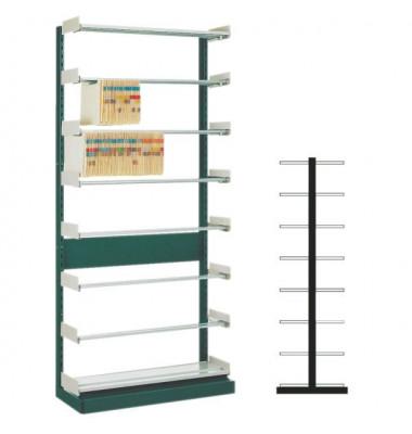 Doppel Grundregal OrgaClass grau 103x225x78cm
