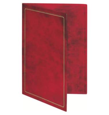 Urkundenmappe m.Einst.tasche rotbraun Kunstleder f. A4