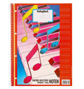 Collegeblock Noten 46715, A4 Notenlinien, 90g 50 Blatt, 4-fach-Lochung