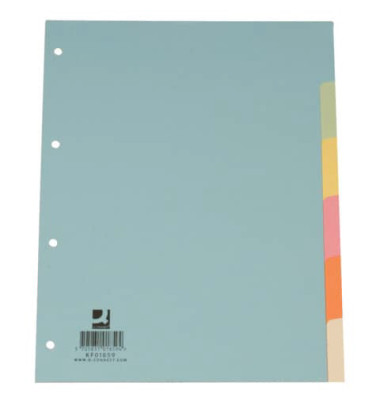 KF01859/334904 Karton Register A4 blanko bunt 6tlg.