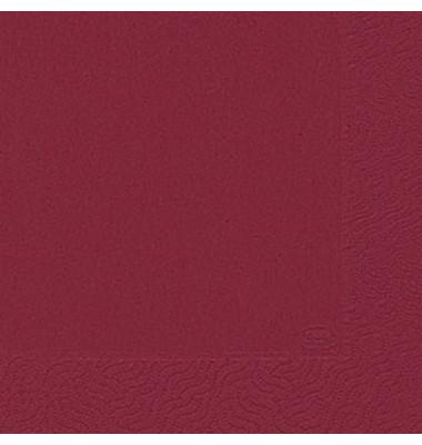104044/ 3lagig.  24 cm Serviette Zelltuch orien.rot
