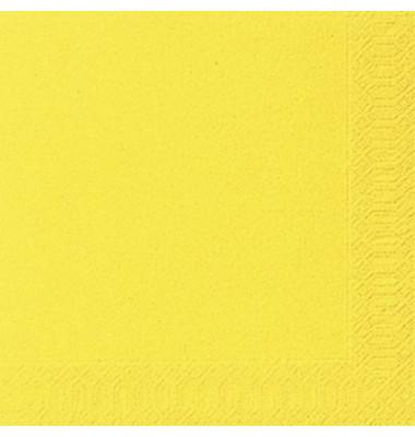 Servietten 24x24cm gelb 3-lagig 1/4-Falz 20 Stück