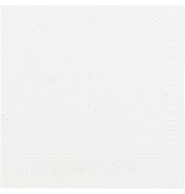 104030/ 3lagig.  33 cm Serviette Zelltuch weiß