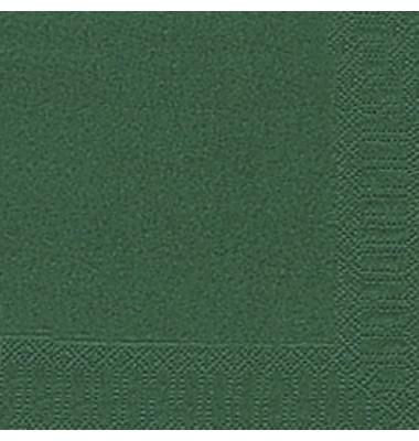 104049/ 3lagig  33 cm Serviette Zelltuch dunkelgrün