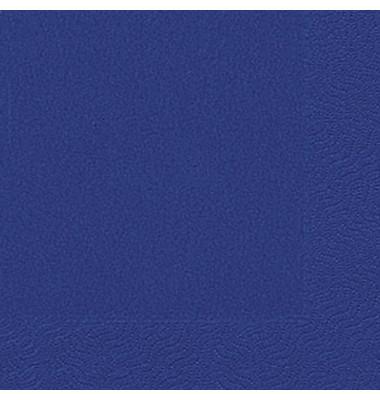 Servietten 33x33cm dunkelblau 3-lagig 1/4-Falz 20 Stück