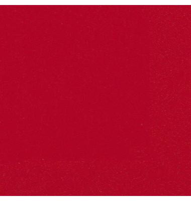 104062/ 3lagig.  33 cm Serviette Zelltuch bril.rot