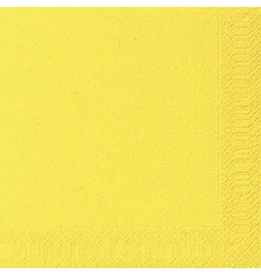104060/ 3lagig.  40 cm Serviette Zelltuch brill.gelb