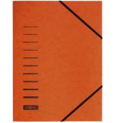Eckspannmappe 24007 A4 335g orange