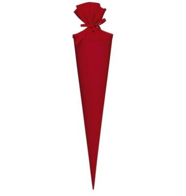 Bastel-Schultüte rot 70cm rund 97823