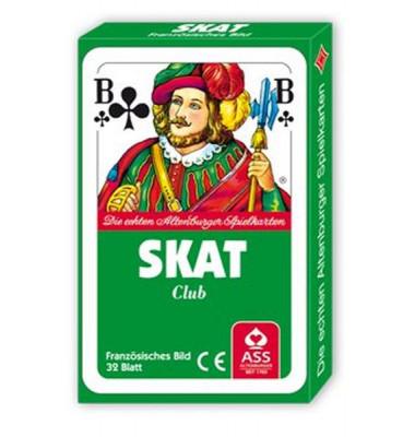 Spielkarten Skat Club französisches Blatt Pappschachtel