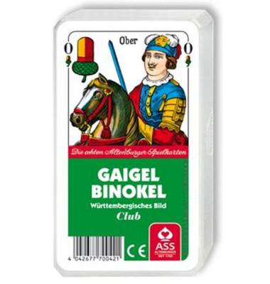 Spielkarten Gaigel & Binokel württembergisch Blatt Kunststoffetui
