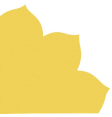 Japan-Serviette 704 goldgelb Blütenform 35x35cm Dekospitze