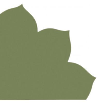 Japan-Serviette 709 grün Blütenform 35x35cm Dekospitze