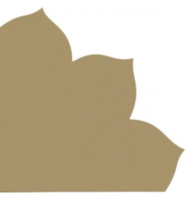 Japan-Serviette 712 gold Blütenform 35x35cm Dekospitze