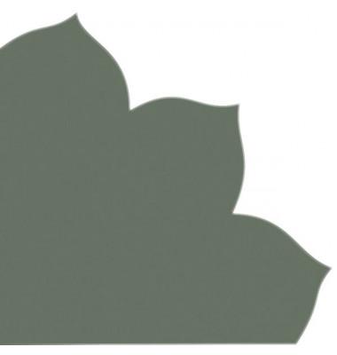 Japan-Serviette 741 dunkelgrün Blütenform 35x35cm Dekospitze