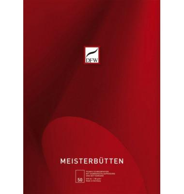840100 Meisterbütten Briefblock A4 50BL unliniert