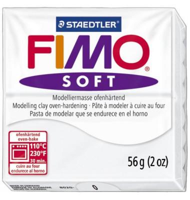 8020-0 Soft 57g Modelliermasse Fimo weiß