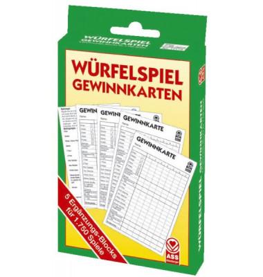 22517119 für 1750 Spiele, Kniffel Würfelblock 5ST