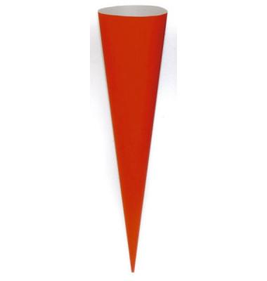 Bastel-Schultüte rot 70cm rund 97813