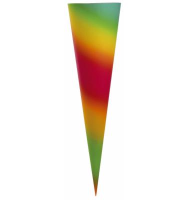 Bastel-Schultüte Regenbogen 70cm rund 97819