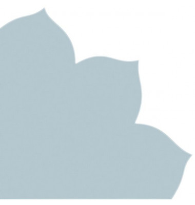 Japan-Serviette 703 hellblau Blütenform 35x35cm Dekospitze