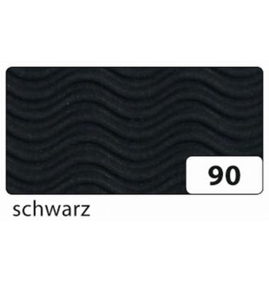 941090 Wellenform 3D Wellpappe 50x70cm schwarz