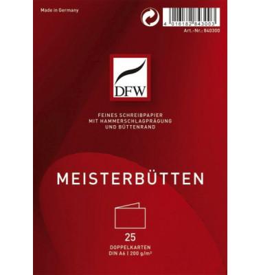 DFW DRESDNER 840300 Doppelkarte A6 quer 25St