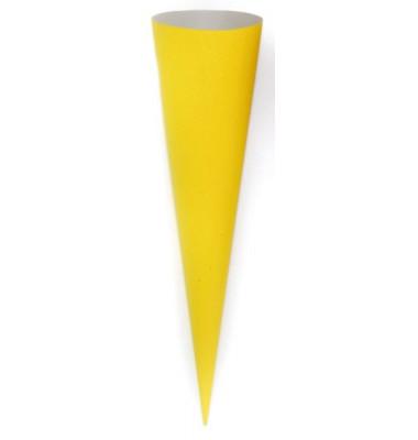 Bastel-Schultüte gelb 70cm rund 97814