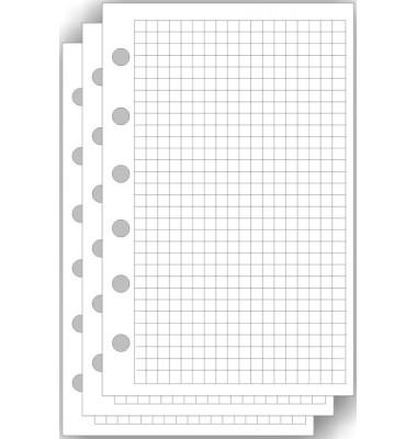 2544 50BL Papier Ersatzeinlage A5 kariert