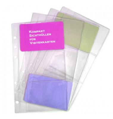 Ersatzeinlage Kompakt Visitenkartenhüllen A6 4 Stück