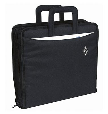 58601 A4 Nylon Ordnertasche A4 schwarz
