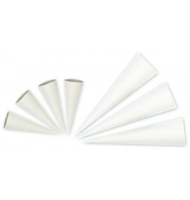 Bastel-Schultüte weiß 70cm rund 9700003