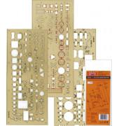 703071 Elektro Zeichenschablone 3 STÜCK
