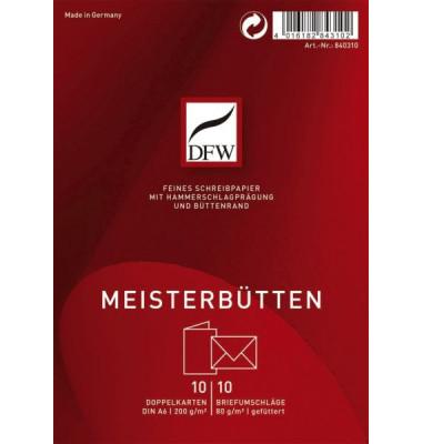DRESDNER 840310 A6 10/10 Briefpapier Karte Meisterbütten