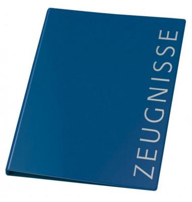 Zeugnismappen-Ringbuch 4144250 blau A4 4-Ring Ø 16mm mit 10 Hüllen