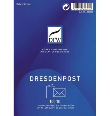 DRESDNER 800320 A6 10/10 Briefpapier Karte Dresden Post