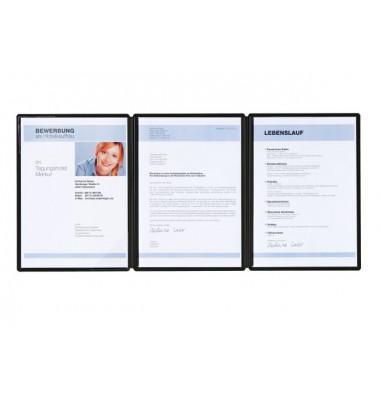Bewerbungsmappe 22022 Square 3-teilig A4 bis 10 Blatt schwarz