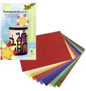 810 18,5x29,7 42g 10 Transparentpapier Mappe 10Farb