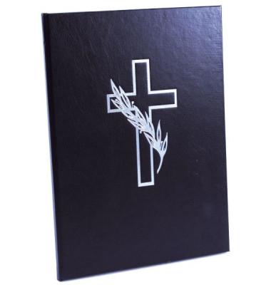 11375 21x28cm Kondolenzbuch  schwarz