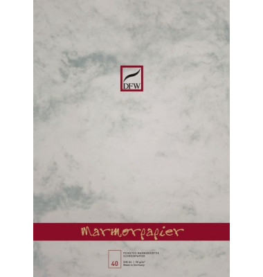 880101 40Bl.unlin.Marmor Briefblock A4 90g grau