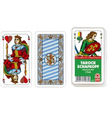 Spielkarten Schafkopf / Tarock bayrisches Blatt Kunststoffetui