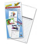 Bastel-Familienkalender 1Monat/1Seite 23x49cm 5-spaltig Jahresunabhängig